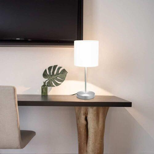 vidaXL Tafellampen 2 st met aanraakknop E14 wit