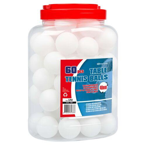 Get & Go Get & Go Tafeltennisballen 60 st ABS wit