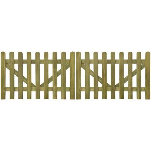 vidaXL Poorten 2 st 300x100 cm geïmpregneerd hout