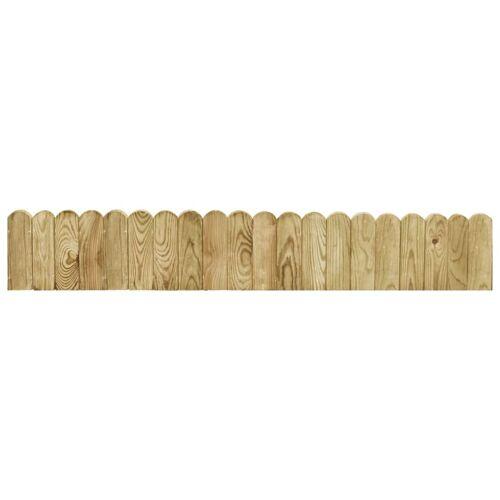 vidaXL Gazonrand 120 cm geïmpregneerd grenenhout groen