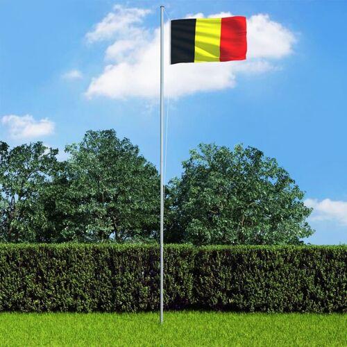 vidaXL Vlag met vlaggenmast België 6,2 m aluminium
