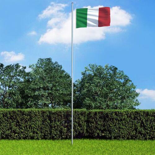 vidaXL Vlag met vlaggenmast Italië 6,2 m aluminium