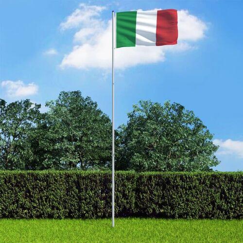 vidaXL Vlag met vlaggenmast Italië 6 m aluminium