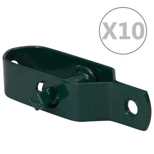 vidaXL Draadspanners 10 st 90 mm staal groen