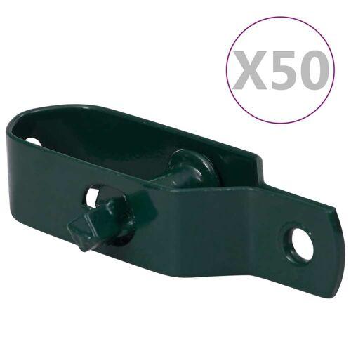 vidaXL Draadspanners 50 st 90 mm staal groen