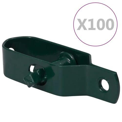 vidaXL Draadspanners 100 st 90 mm staal groen