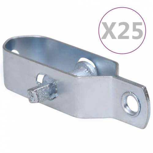 vidaXL Draadspanners 25 st 100 mm staal zilverkleurig