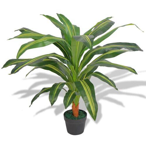 vidaXL Kunst dracena plant met pot 90 cm groen