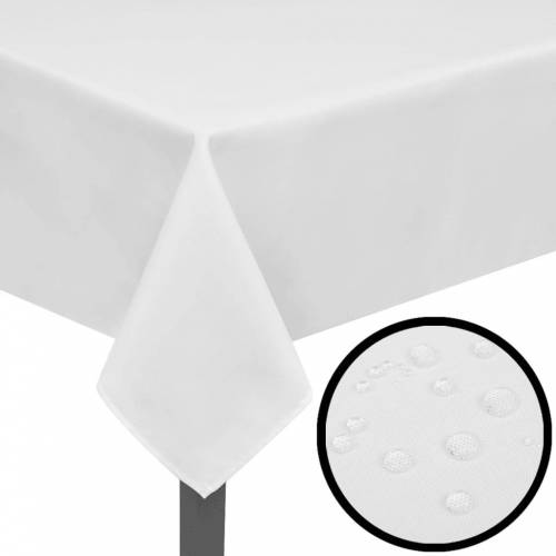 vidaXL Tafelkleden wit 5 stuks 190 x 130 cm