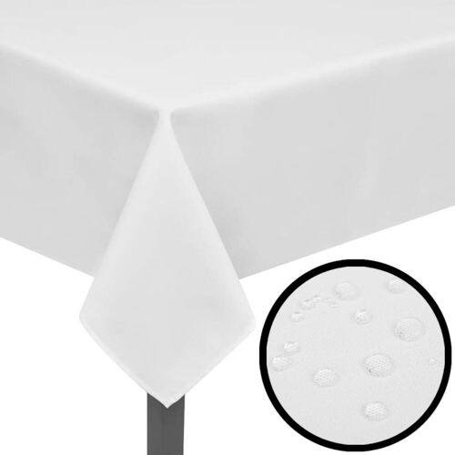 vidaXL Tafelkleden wit 5 stuks 220 x 130 cm