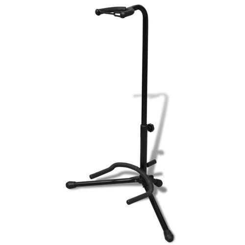 vidaXL Verstelbare enkelvoudige gitaarstandaard