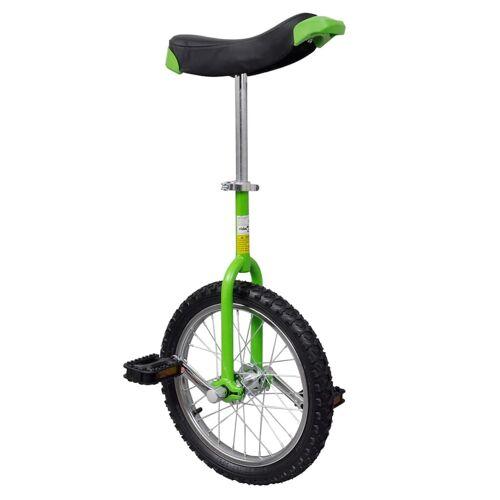 vidaXL Eenwieler verstelbaar (groen / 16 inch)