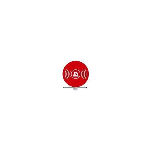 Sticker alarmbeveiliging rond pictogram 10 cm