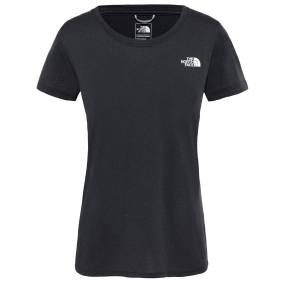 The North Face W Reaxion Amp Crew - T-skjorte - Black Heather - M