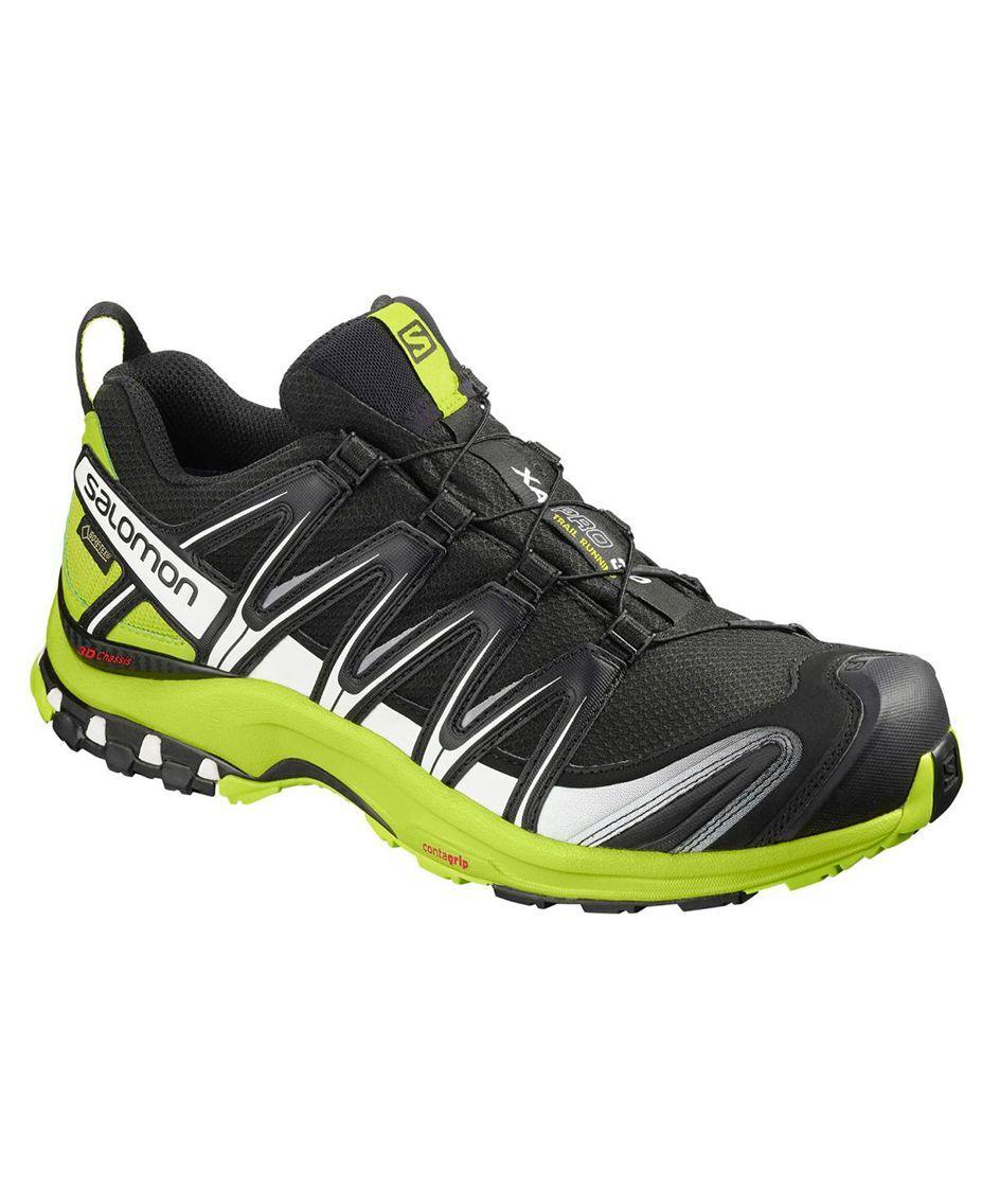 Salomon XA Pro 3D GTX - Sko - Black/Lime Green/Wht - 46 2/3