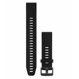 GARMIN QuickFit 20 Silikon Long - Klokkereim - Svart