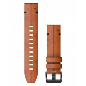 GARMIN QuickFit 22 Leather - Klokkereim - Brun
