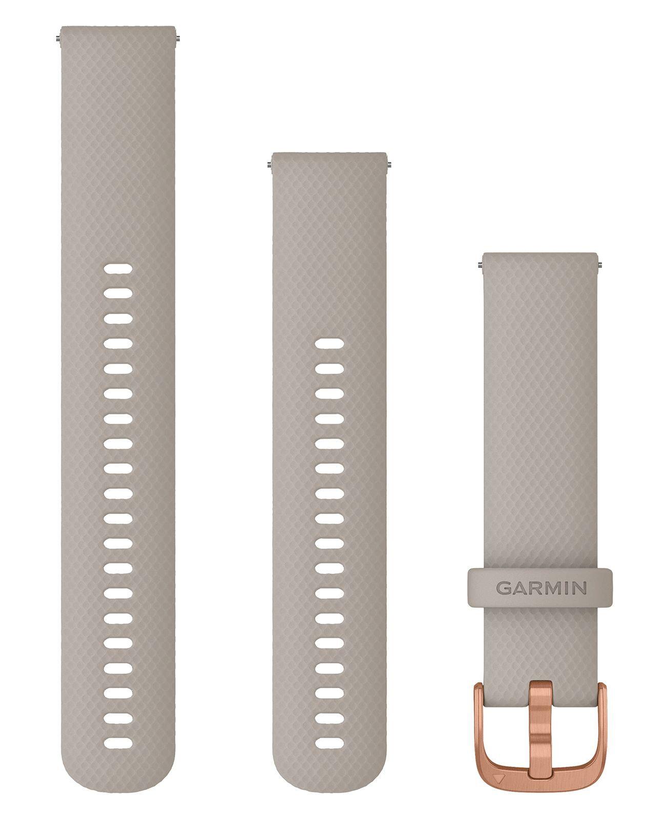 GARMIN Quick Release 20 Silikon Rose - Klokkereim - Sand