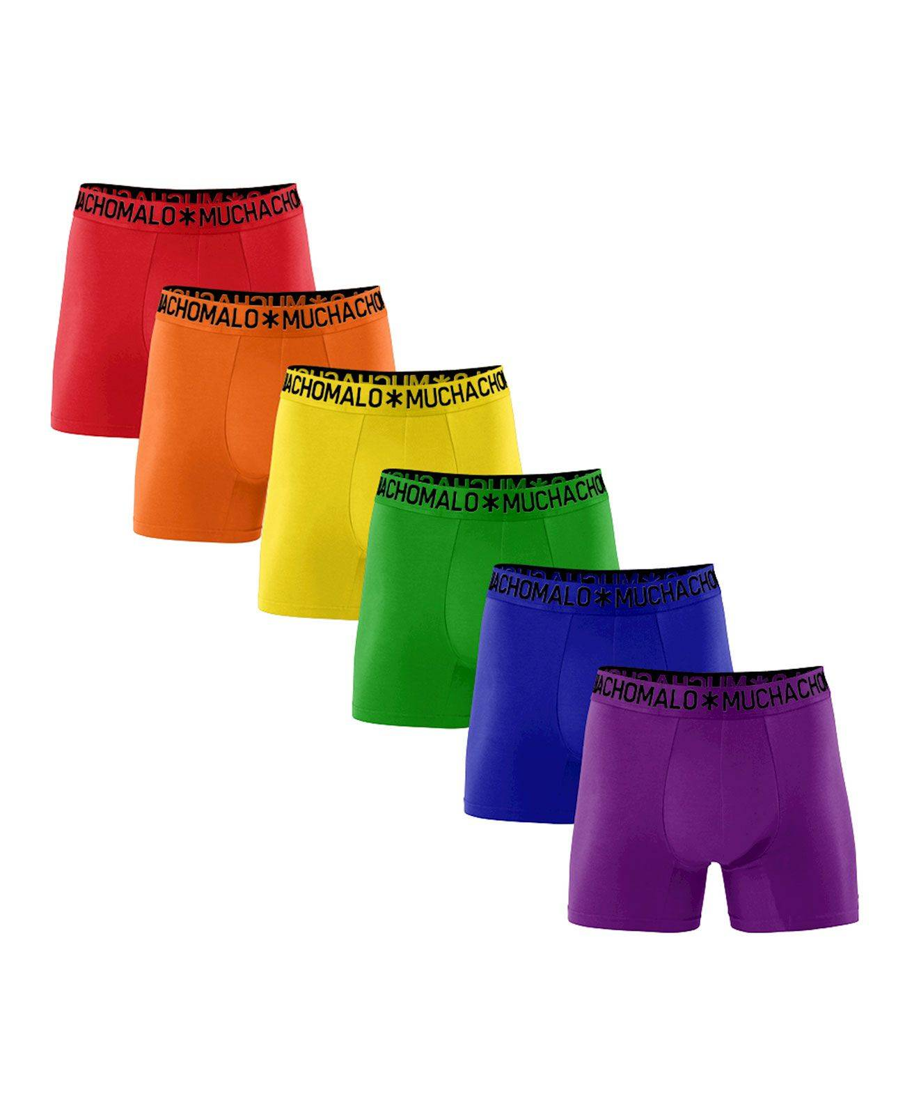 Muchachomalo 6+1 Solid - Boxershorts - Rainbow - L