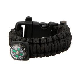 MILRAB Survival Bracelet m/ Fire Starter & Compass - Armbånd - Svart