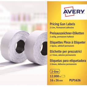 Avery Labels 26x16 G2 White 10-rulle