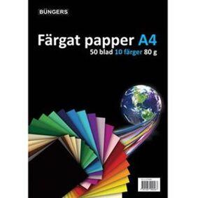 Büngers Farget kopipapir, 50 ark pr. pakke, rød
