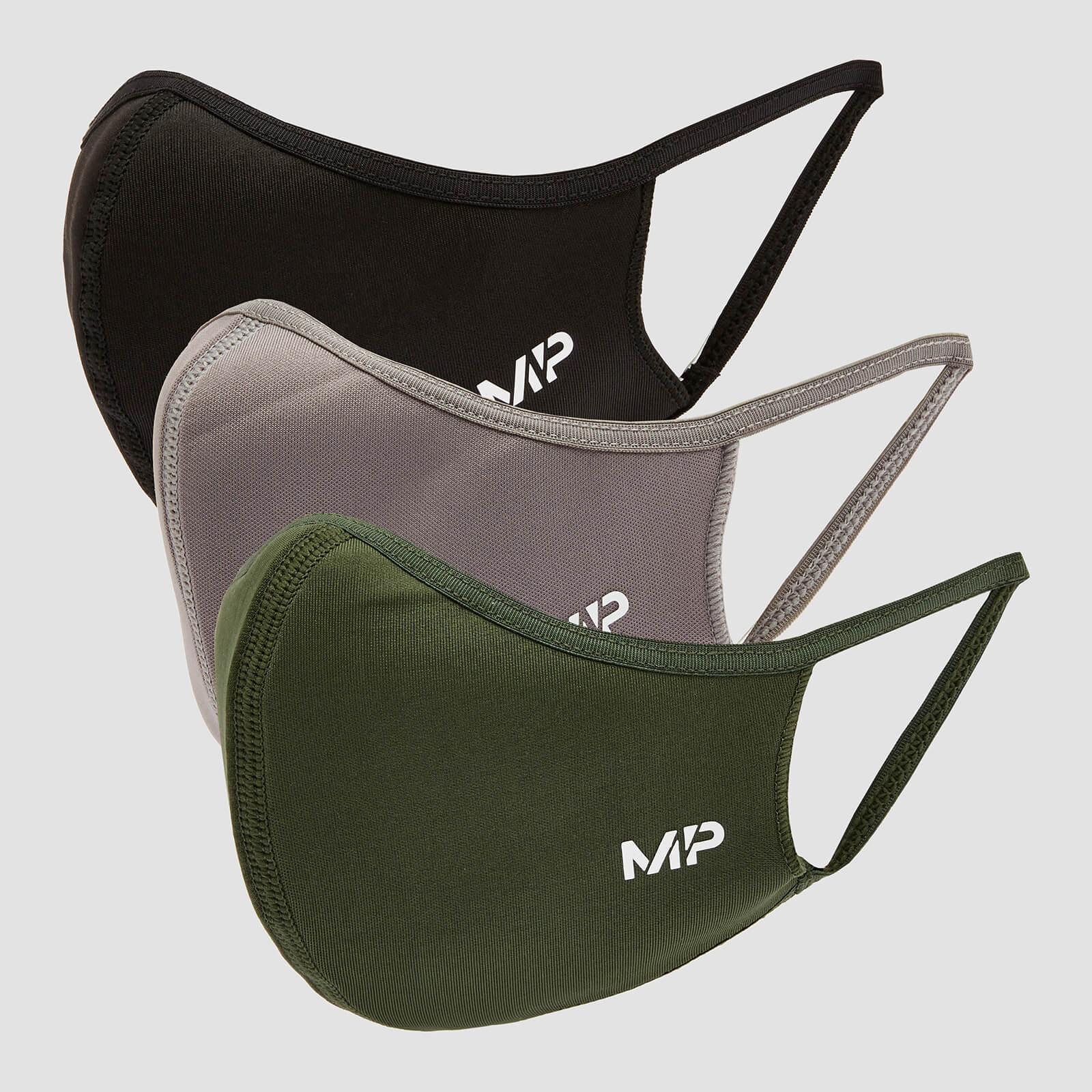MP Curve Mask (3 Pack) - Black/Leaf Green/Carbon - M/L