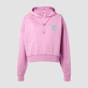 MP X Zack George Women's Washed Crop Hoodie - Pink Lavender - XXS