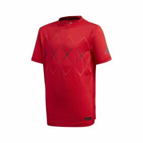 Adidas Barricade Tee Boys Scarlet Red 140