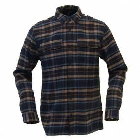 Patagonia Men`S L/s Fjord Flannel Shirt (New Navy)