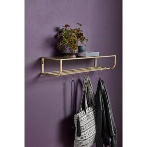 Nordal - Hattehylle L80 cm - Gullfarget metall