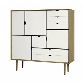 Andersen Furniture - S3 Høyskjenk - Eik olje - Hvit