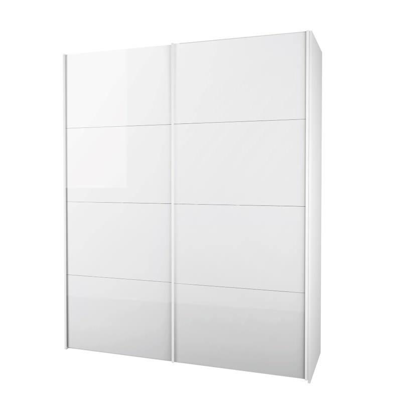 Firenze Garderobeskap - Hvit høyglans