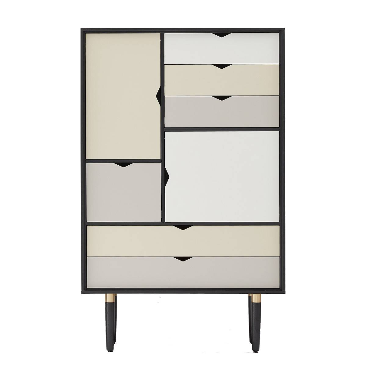 Unoliving Andersen Furniture - S5 Høyskjenk - Sort lakk - Farge