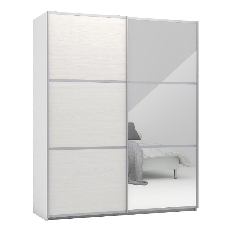 Unoliving Designa Skydedørsskab 180 cm m/spejl