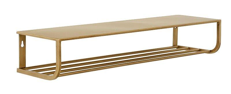 Unoliving Nordal - Hattehylle L80 cm - Gullfarget metall