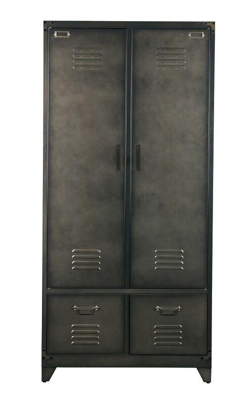 Locker Garderobeskap i metall- Sort