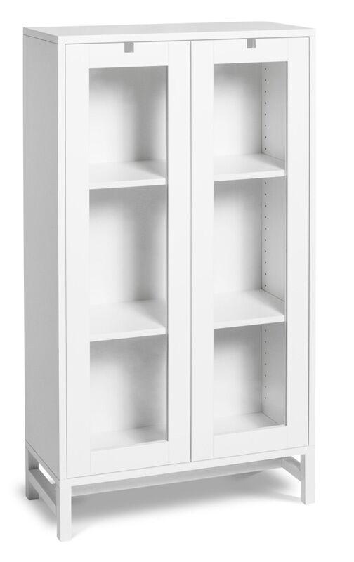 Mavis - Falsterbo Vitrineskap m/2 glassdører - Hvit