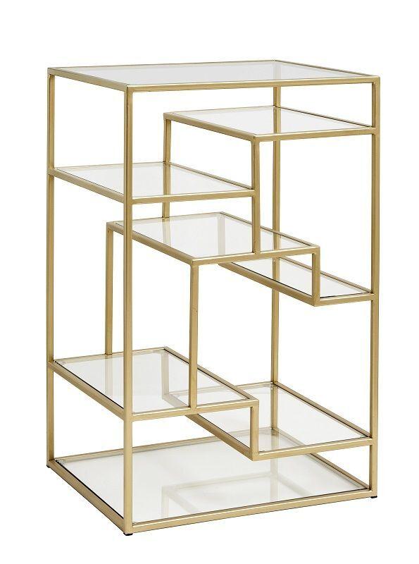 Nordal - Display m/glasshyller - Metall   Unoliving