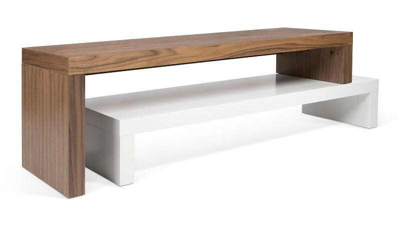 Temahome - Cliff TV-bord - Hvit/Valnøtt