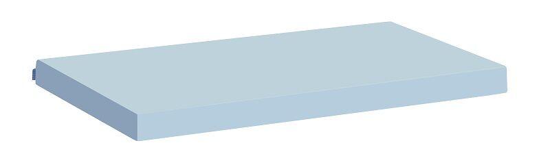 Hoppekids - Glatt Madrasstrekk Lyseblå - 9x90x200