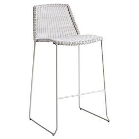 Cane-line Breeze barstol, stabelbar , GråHvit