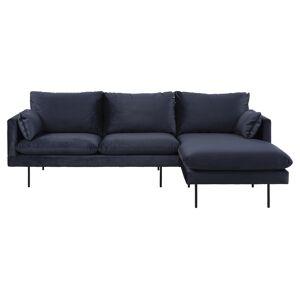 Salena Sofa m. højrevendt chaiselong - Mørkeblå
