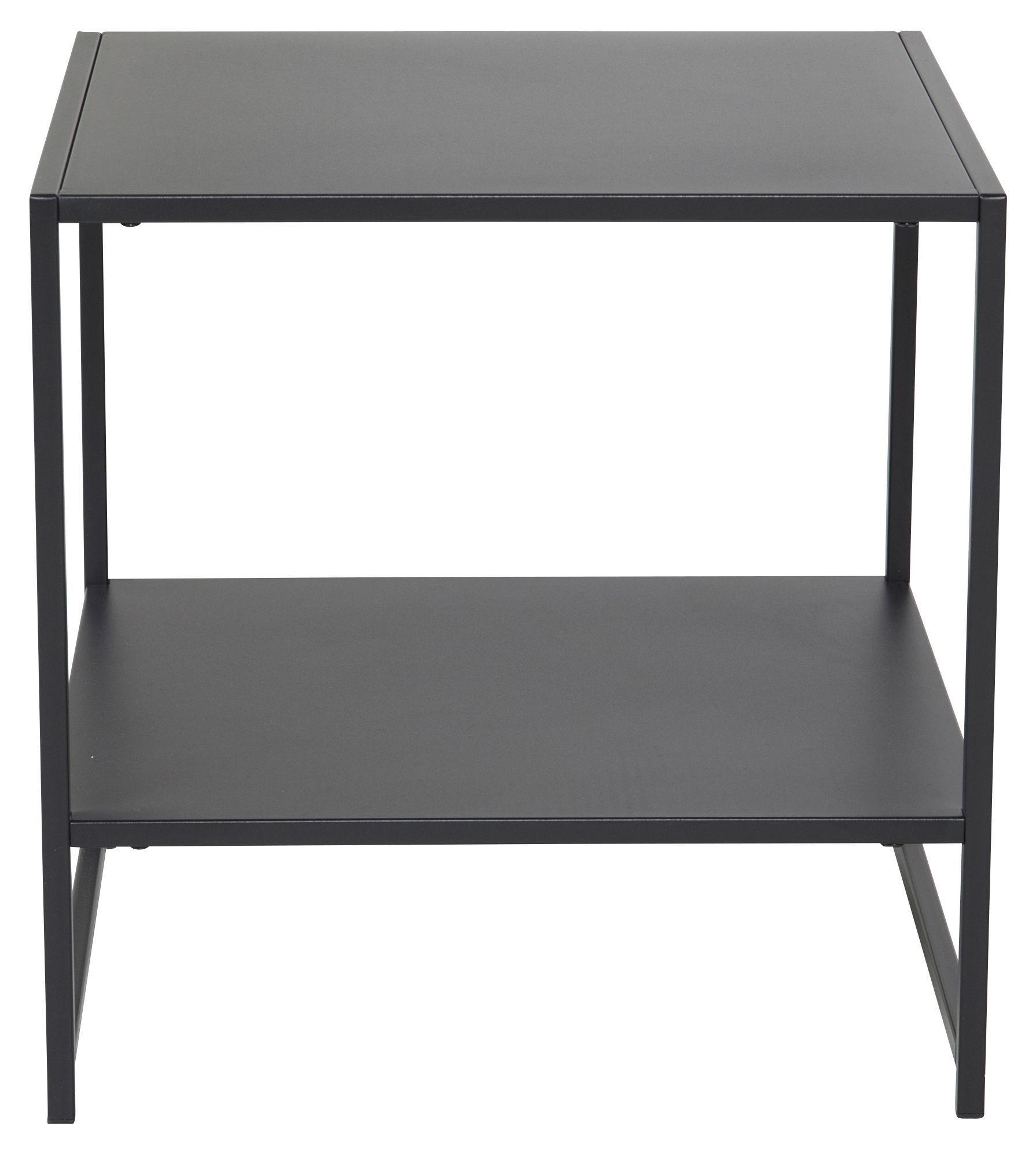 Venture Design Staal, Sidebord m. hylle, Sort Metall   Unoliving