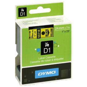Dymo Merkebånd Dymo D1 24 mm, svart på gul  5411313537186 Replace: N/A