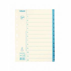 ESSELTE Pappersregister JOPA A4 1-12 vit/blå  5701216699136 Replace: N/A