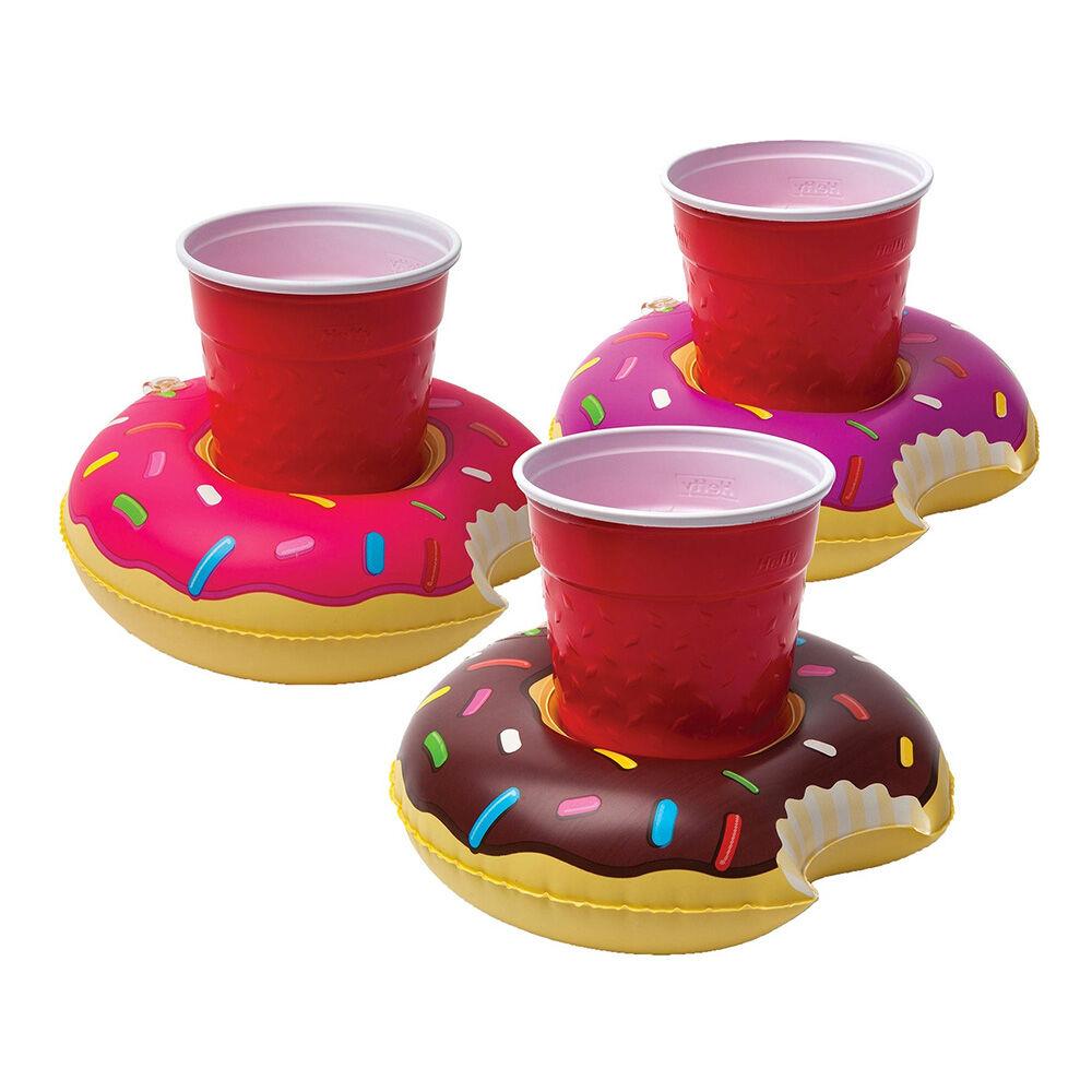 Big Mouth Toys Flytende Drinkholder Donuts - 3-pakning