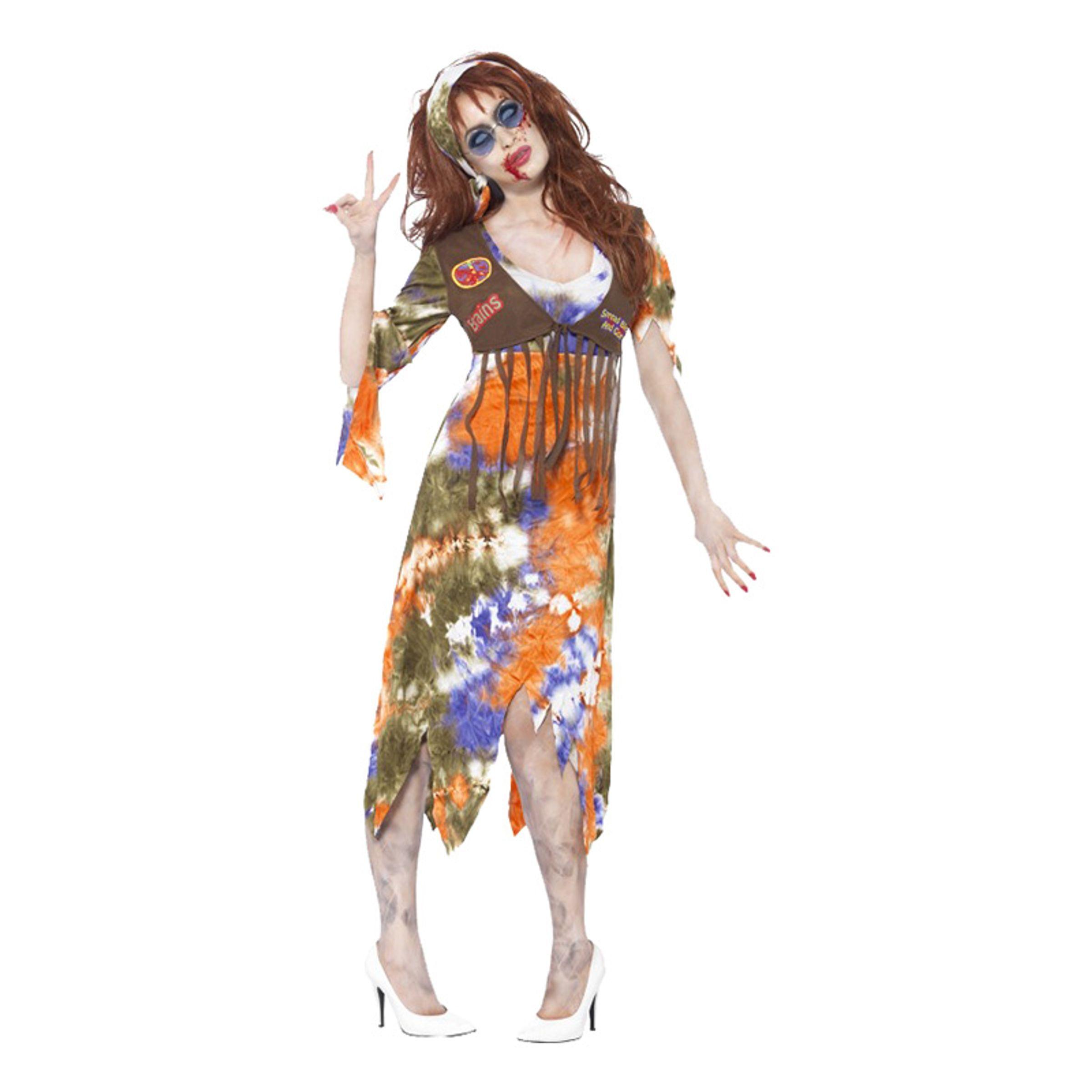 60-talls Hippiedame Zombie Kostyme - Medium