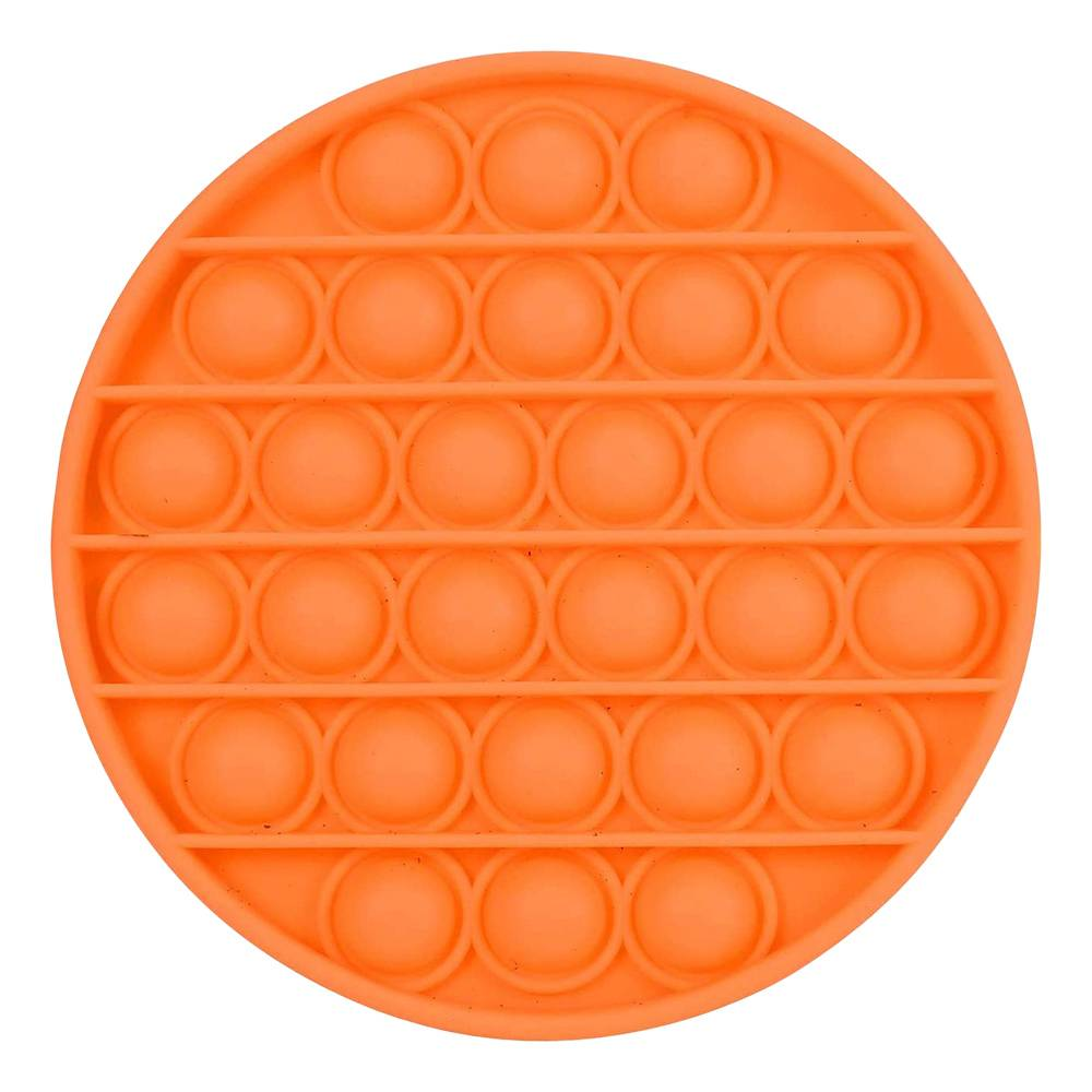 Pop-it Fidget Toy - Rund Oransje