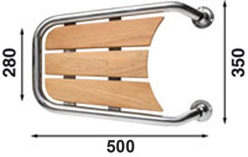 Båtsystem Mp55 motorbåtspeke, 550mm, inkl teak